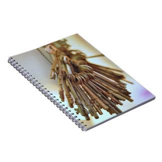 Llaves del vintage cuaderno