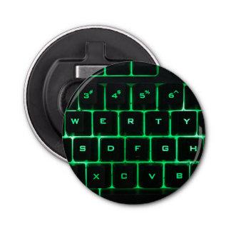 Llaves verdes qwerty del teclado de ordenador abrebotellas