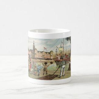 Llegada del vintage holandés del St. Nick de Taza De Café