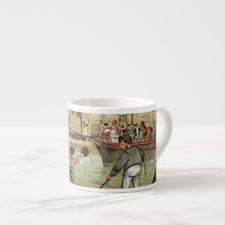 Llegada del vintage holandés del St. Nick de Taza De Espresso