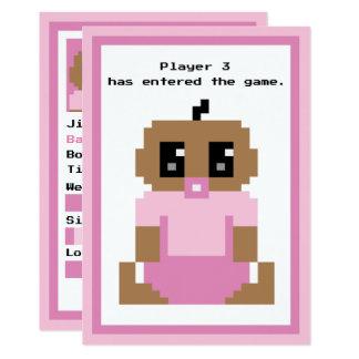 Llegada étnica incorporada de la niña del juego invitación 12,7 x 17,8 cm