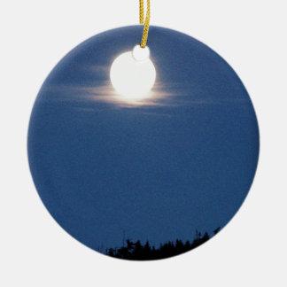Llena de Luna Ornamentos De Navidad