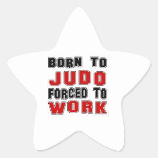 Llevado al judo forzado para trabajar calcomanías forma de estrellaes personalizadas