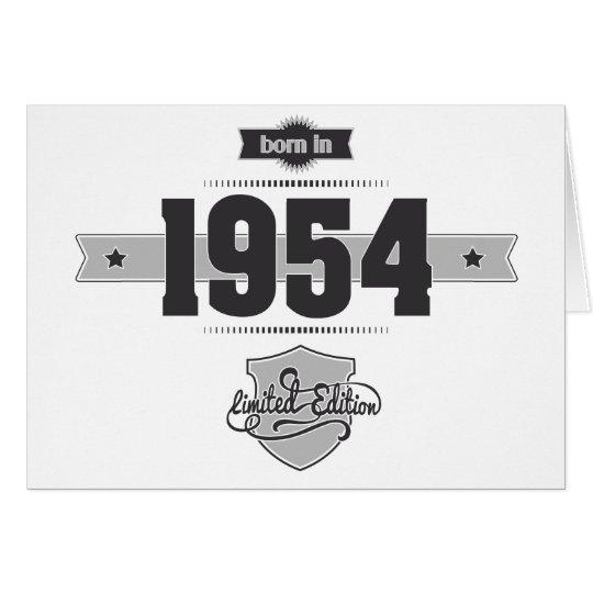 Llevado en 1954 (Dark&Lightgrey) Tarjeta De Felicitación