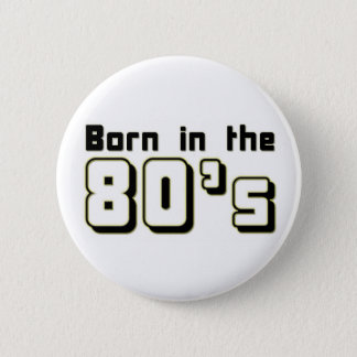 Llevado en los años 80 chapa redonda de 5 cm