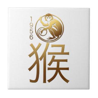 Llevado en teja de la astrología del chino del año
