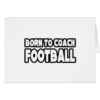 Llevado entrenar fútbol tarjetas