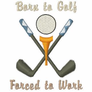 """""""Llevado Golf, forzado trabajar """" Chaquetas Bordadas"""