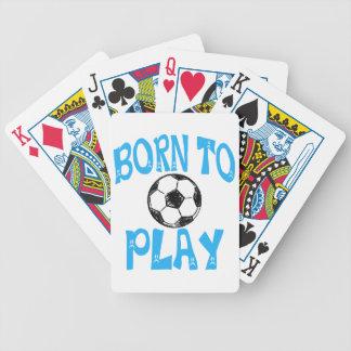 llevado jugar a fútbol baraja de cartas bicycle