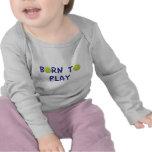 Llevado jugar la camiseta del bebé del tenis