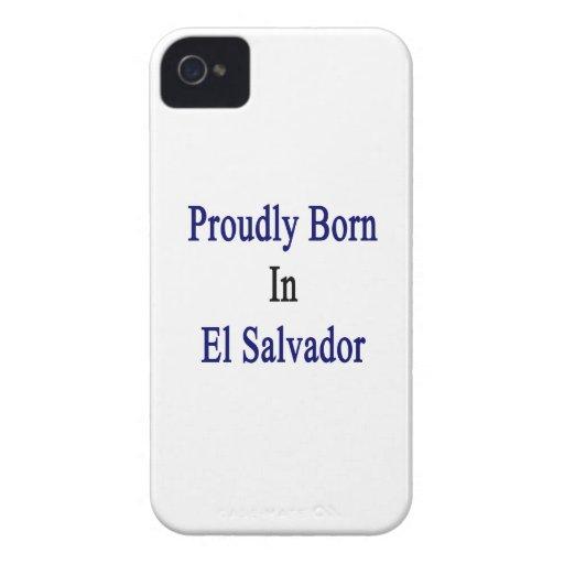 Llevado orgulloso en El Salvador Case-Mate iPhone 4 Carcasas