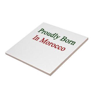 Llevado orgulloso en Marruecos Azulejo