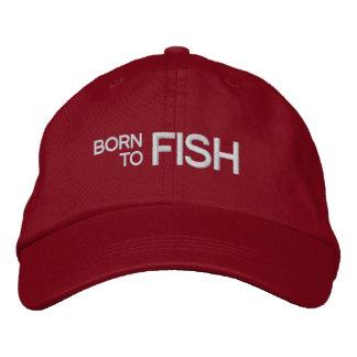 Llevado pescar el gorra bordado rojo gorros bordados