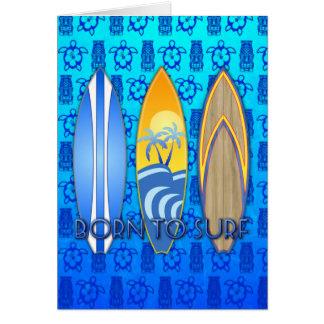 Llevado practicar surf felicitación