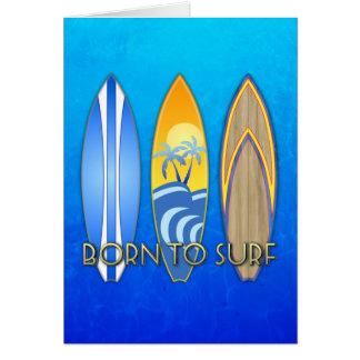Llevado practicar surf tarjetón