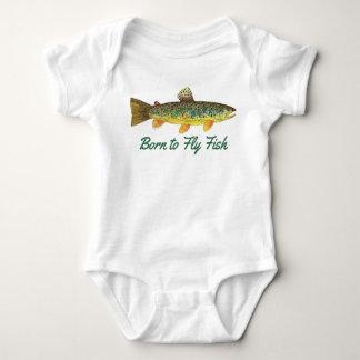 """""""Llevado volar pesca chistosa del bebé de los Body Para Bebé"""