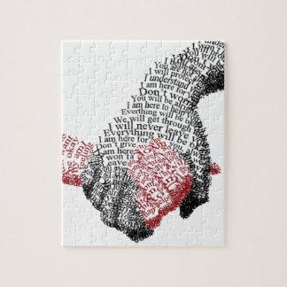 Llevando a cabo las manos, el amor conquista todos puzzle