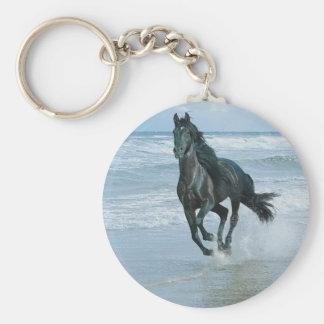 Lleve claves caballo llavero redondo tipo chapa