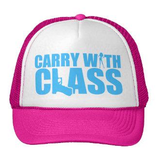 Lleve con la clase - gráficos azules gorras de camionero