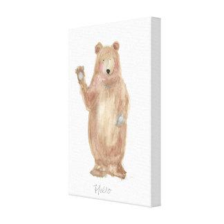 lleve el arte, pintura del oso, arte de la pared,