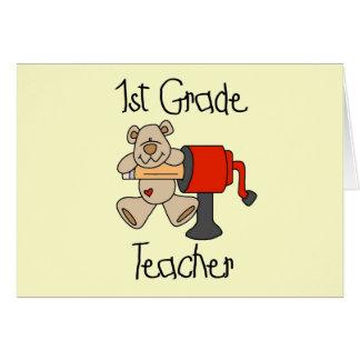 Lleve las 1ras camisetas y regalos del profesor de tarjeta de felicitación