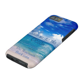 Lléveme a la caja del teléfono celular del océano funda resistente iPhone 6