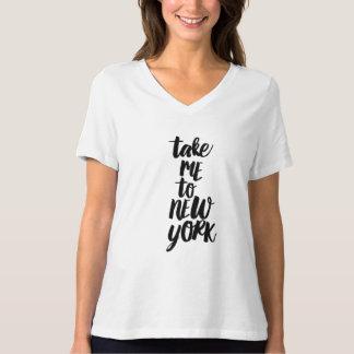 Lléveme a la camiseta del cuello en v del ajuste
