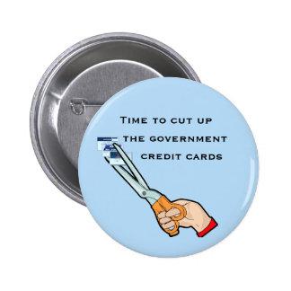 Llévese las tarjetas de crédito del gobierno chapa redonda de 5 cm