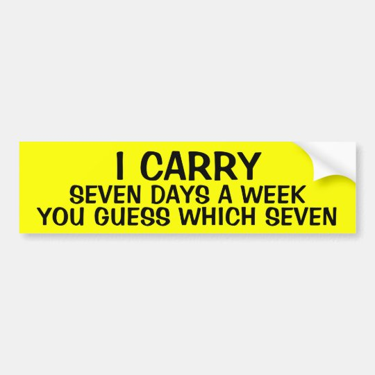LLEVO 7 días a la semana Pegatina Para Coche