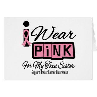 Llevo a la hermana rosada del gemelo del cáncer de tarjetas