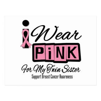 Llevo a la hermana rosada del gemelo del cáncer de postal