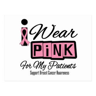 Llevo a los enfermos de cáncer rosados del pecho postal