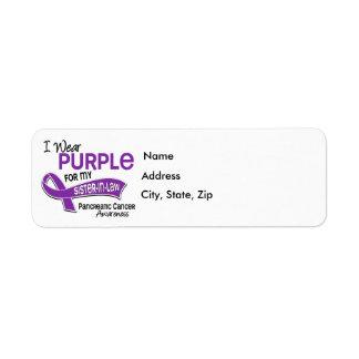 Llevo al cáncer pancreático de la cuñada de la púr etiqueta de remite