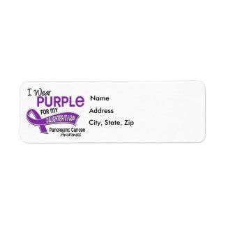 Llevo al cáncer pancreático de la nuera de la etiqueta de remite