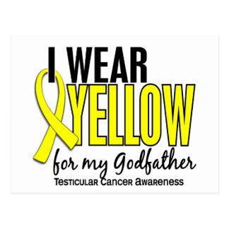 Llevo al cáncer testicular del padrino 10 amarillo tarjetas postales