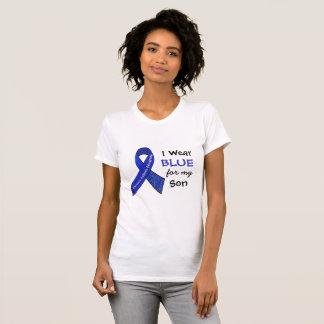 Llevo e azul para mi camisa del CFS del hijo