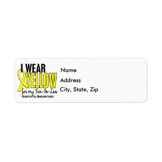 Llevo el amarillo para mi sarcoma del yerno 10 etiqueta de remitente