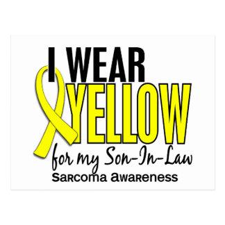 Llevo el amarillo para mi sarcoma del yerno 10 postal