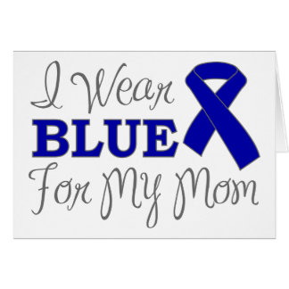 Llevo el azul para mi mamá (la cinta azul de la co tarjeta de felicitación