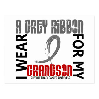 Llevo el gris para mi cáncer de cerebro del nieto postal