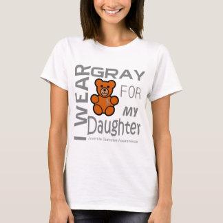 Llevo el gris para mi diabetes juvenil Awar de la Camiseta