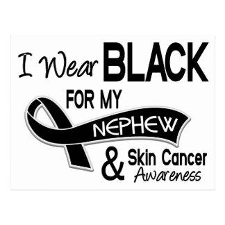 Llevo el negro para mi cáncer de piel del sobrino postal