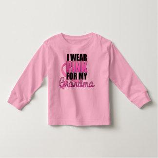 Llevo el rosa para mi abuela - cáncer de pecho camiseta de bebé