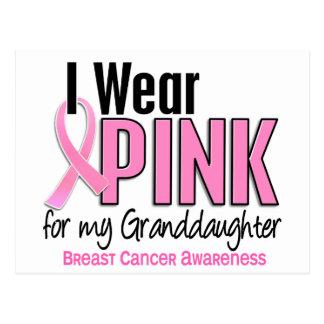 Llevo el rosa para mi cáncer de pecho de la nieta postal
