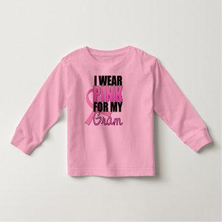 Llevo el rosa para mi gramo - cáncer de pecho camiseta de bebé