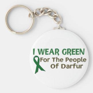 Llevo el verde para la POBLACIÓN de DARFUR Llavero Redondo Tipo Chapa