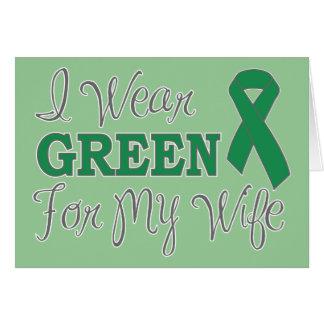 Llevo el verde para mi esposa (la cinta verde de l tarjeta de felicitación