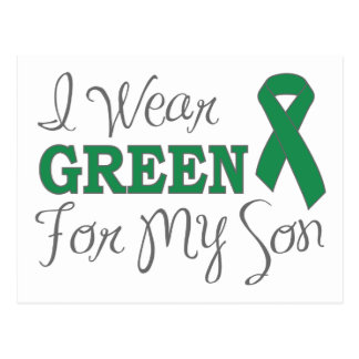 Llevo el verde para mi hijo (la cinta verde de la postal