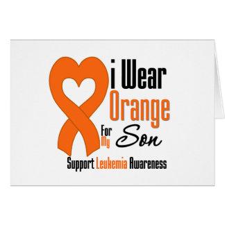 Llevo la cinta (hijo) - leucemia tarjeta de felicitación