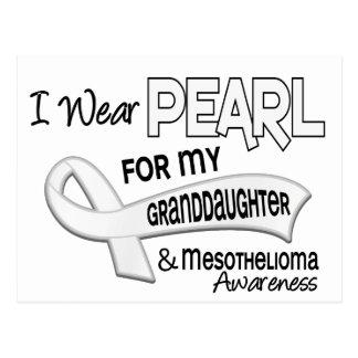 Llevo la perla para mi mesotelioma de la nieta 42 postal